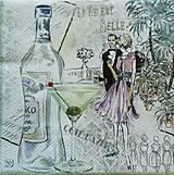 - S344 - Servítky - koktejl párty, martini - 5215832_