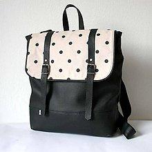 Batohy - Aktovkový batoh (čierno-bodkovaný) - 5216984_