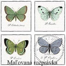 Papier - Vintage kolekcia - motýle novinka - 5217906_