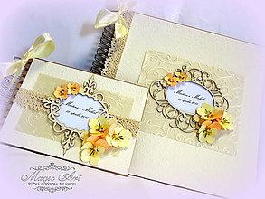 Papiernictvo - Slnkom zaliaty svadobný deň... - 5217300_