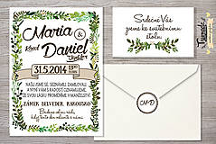 Grafika - Rostlinkové svatební oznámení - svatební sada - 5223574_