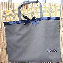 Kabelky - Taška modrá stužka - 5222991_