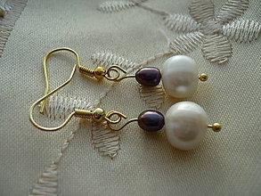 Náušnice - ... riečne perly ... - 5221355_