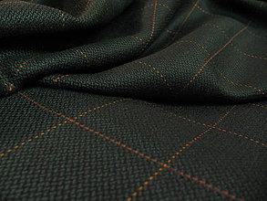 Textil - Káro tmavozelené s oranžovým károvaním - 5220074_