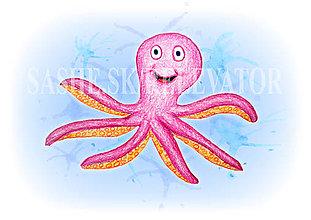 Papiernictvo - Podložky pod zošit Morský svet (chobotnica) - 5222650_