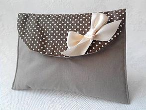 Taštičky - BonBon pochette (beige/brown/white dots) - 5225371_