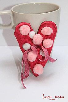 Odznaky/Brošne - Brošnička srdiečko ružovo-ružové :) - 5226507_