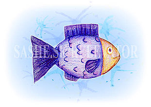 Papiernictvo - Podložky pod zošit Morský svet (rybka) - 5227021_