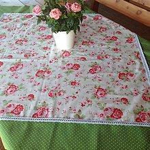Úžitkový textil - Obrus v štýle Green Gate II. - 5227903_