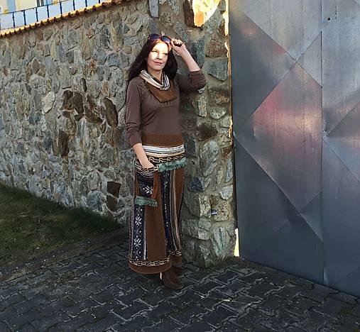ethno- sukňa maxi a tunel