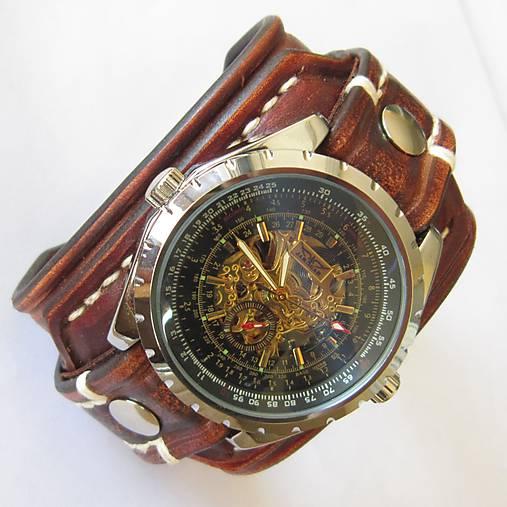 406747b0c Pánske hodinky, kožený hnedý náramok / leon - SAShE.sk - Handmade ...