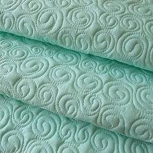 Úžitkový textil - Mentolová zástenka so slimáčikmi - 5227989_