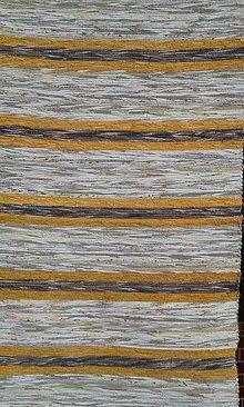 Úžitkový textil - Koberec svetlo hnedý s žlto hnedou kombináciou 160x75cm - 5229613_