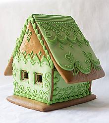 Dekorácie - Perníková chalúpka zelená - 5232202_