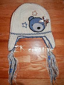 Detské čiapky - Macíková - 5233327_