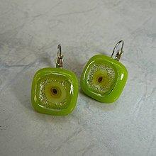 Náušnice - Green eye - náušnice - 5231681_