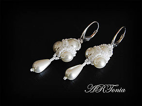 Náušnice - Svadobné perličkové náušničky - 5231915_