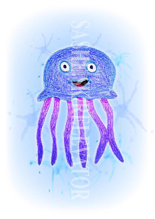 Podložky pod zošit Morský svet - medúza
