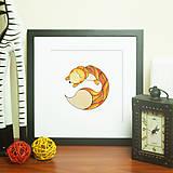 Grafika - Líštička líštičkovitá  (séria Zasnené zvieratká) - 5236828_