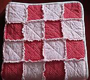 Textil - Bavlnená deka pre dievčatko... - 5236510_