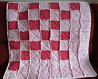 Textil - Bavlnená deka pre dievčatko... - 5236511_