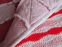 Textil - Bavlnená deka pre dievčatko... - 5236515_