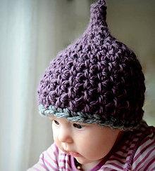 Detské čiapky - Čepička fialovo šedá - 5235907_