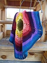 Textil - Dúhová deka - 5236805_
