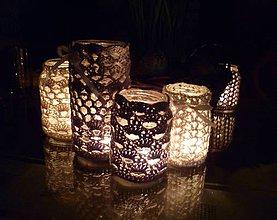 Svietidlá a sviečky - Pavučinkové svietniky - 5236688_
