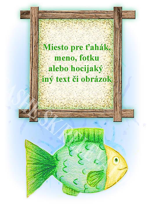 Podložky pod zošit Morský svet - rybka osobné