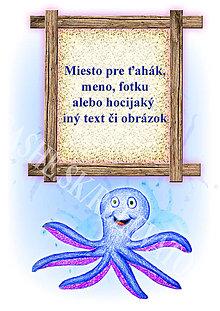 Papiernictvo - Podložky pod zošit Morský svet (chobotnica osobné) - 5233990_