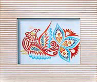 Grafika - Vajnorský ornament: vtáčik, typ 2 - 5238220_