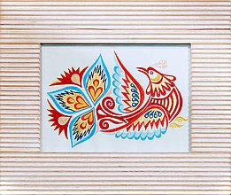Obrazy - Vajnorský ornament: vtáčik, typ 1 - 5238299_