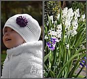 Detské čiapky - Prechodná...s kvietkom