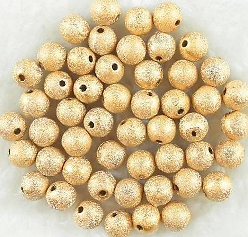 Zlate metalicke gulicky s flitrami 4mm