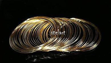 Suroviny - Pameťový drôt Ø 60mm zlatý 10 otočiek - 5239632_