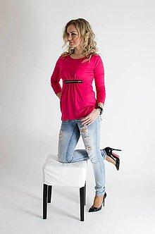 Tričká - Voľné tričko so zipsom - 5237530_