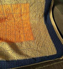 Úžitkový textil - Háčkovaná RETRO DEKA - 5241194_