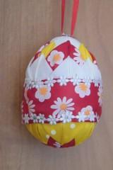 Dekorácie - Patchworkové vajíčko kvietkované - 5239534_