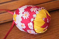 Dekorácie - Patchworkové vajíčko kvietkované - 5239540_
