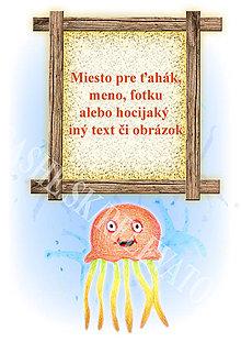 Papiernictvo - Podložky pod zošit Morský svet (medúza osobné) - 5240026_