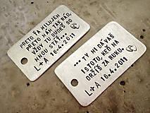 Kľúčenky - ..preto! / 2mm hrúbka - 5242009_
