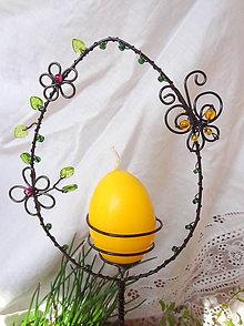 Dekorácie - veľkonočná jarná kraslica-vajíčko...zápich - 5243818_