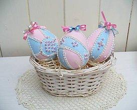 Dekorácie - Veľkonočné vajíčka /sada 3ks/ - 5243923_
