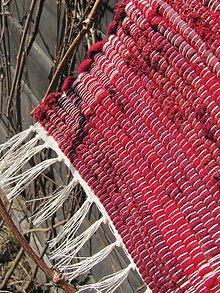 Úžitkový textil - koberec tkaný bordový 70x 200 cm - 5244679_