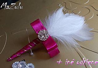 Pierka - svadobné pierko cyklámenové - 5244506_