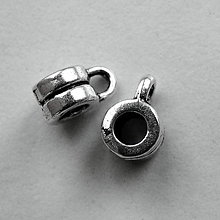 Korálky - Záves 6x4,2mm/otvor 2,9mm-1ks - 5241382_