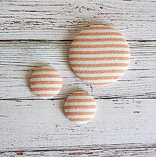Odznaky/Brošne - Náušnice zapichovačky a brošňa Prúžok mandarínkový - 5245044_
