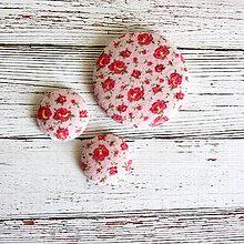 Sady šperkov - Náušnice zapichovačky a brošňa Drobné kvietky - 5245067_