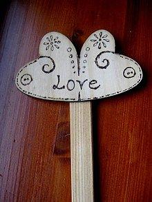 Dekorácie - Zápich LOVE č.140 - 5241590_